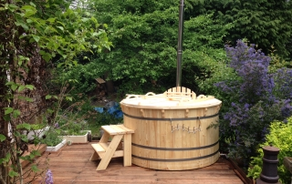wooden hot tub