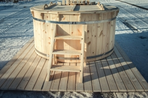 wood burning wooden hot tubs