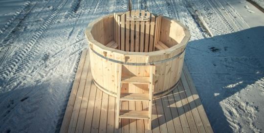 test diy wooden hot tub