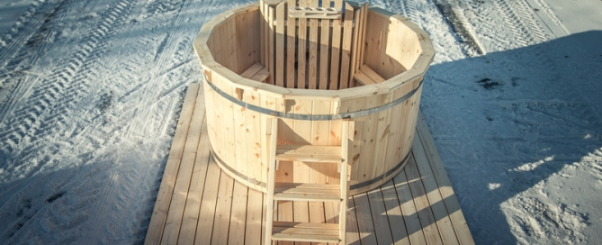 test diy wooden hot tub