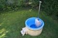 Fiberglass hot tub