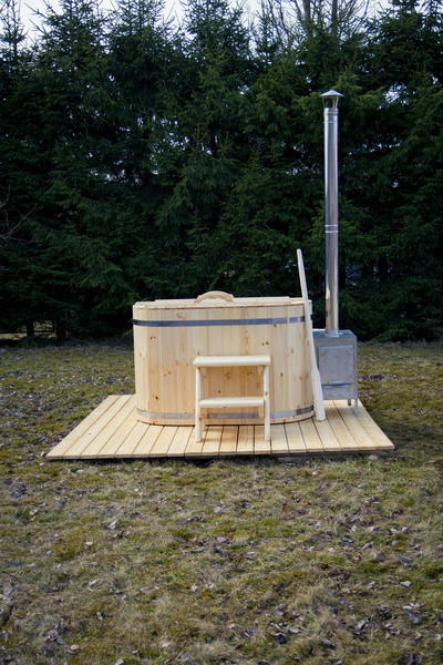 wood burning ofuro hot tub - full set