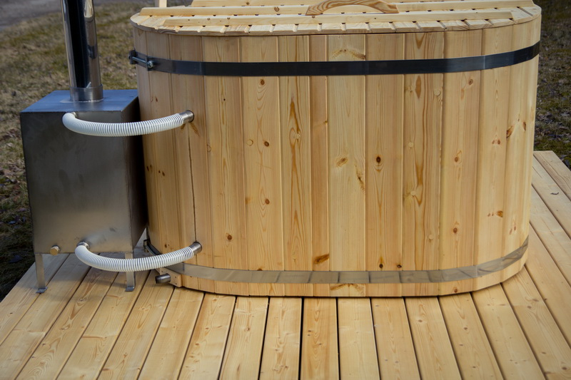 ... Ofuro Tub Connected To The External Wood Burning Heater ...