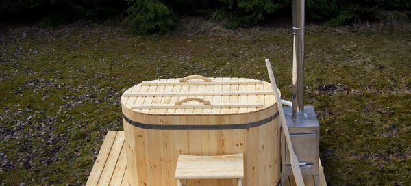 ofuro wooden hot tub with external heater