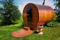 sauna with decking