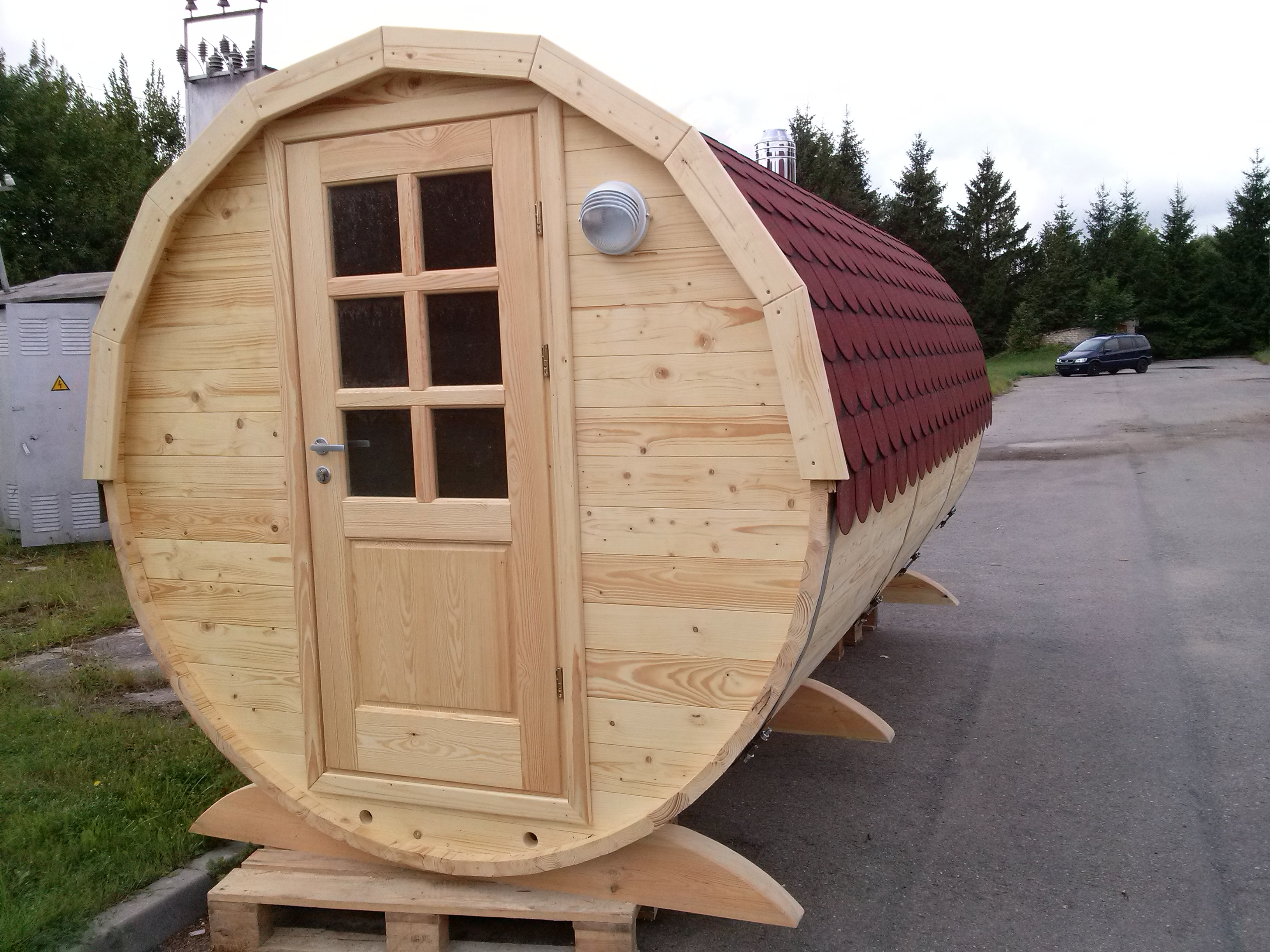 Barrel sauna 5m