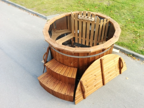 New stainless steel wooden hot tub