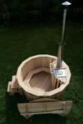 Larch hot tub with internal heater -0038