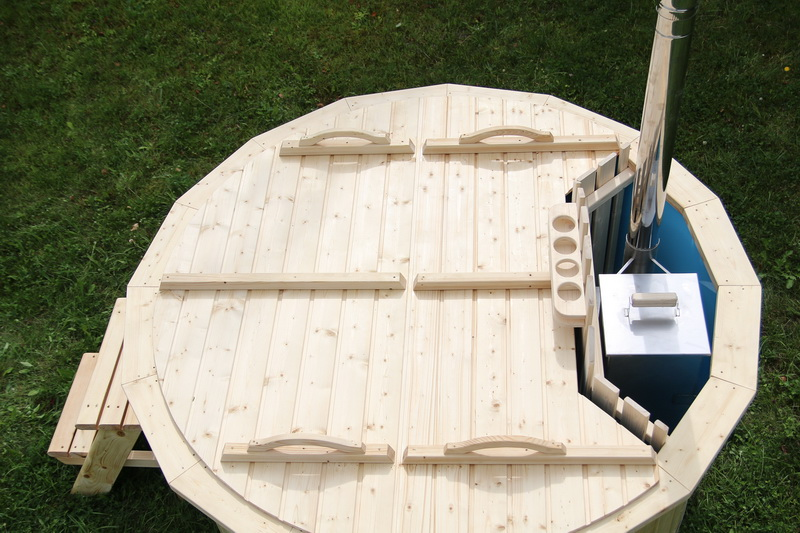 Polypropylene new wooden hot tub with cover