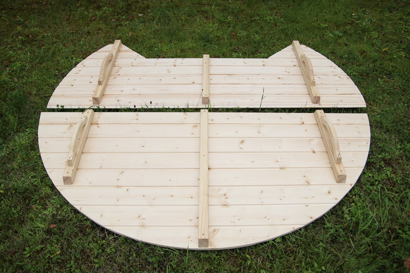 round wooden hot tub cover