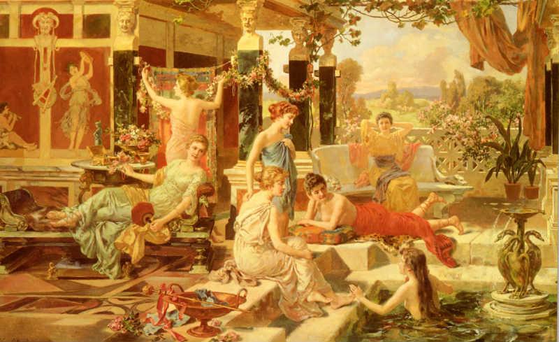culture of ancient hot tubs